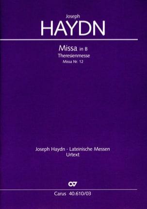 Theresienmesse Hob 22-12 HAYDN Partition Chœur - laflutedepan