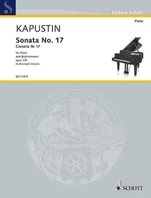 Sonate pour Piano n° 17 Opus 134 - Nikolai Kapustin - laflutedepan.com