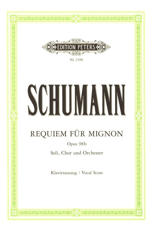 Requiem Für Mignon Opus 98b - SCHUMANN - Partition - laflutedepan.com
