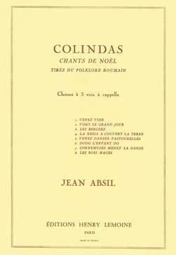 Colindas Opus 87 Jean Absil Partition Chœur - laflutedepan