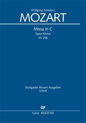 Missa Brevis In C K 258 Spaur Mess MOZART Partition laflutedepan