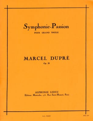 Symphonie Passion Opus 23 DUPRÉ Partition Orgue - laflutedepan