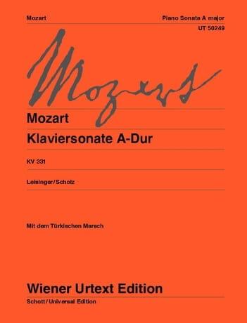Sonate pour piano en la majeur K 331 - MOZART - laflutedepan.com