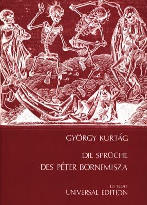 Die Sprüche des Peter Bornemisza Op. 7 KURTAG Partition laflutedepan
