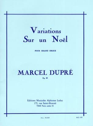 Variations sur un Noël Opus 20 DUPRÉ Partition Orgue - laflutedepan