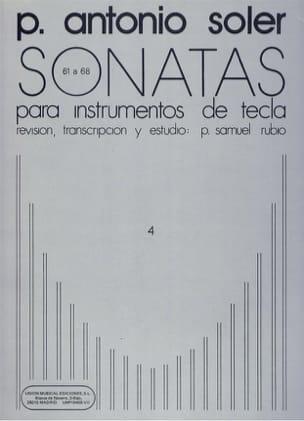 Sonates. Volume 4 Antonio Soler Partition Clavecin - laflutedepan