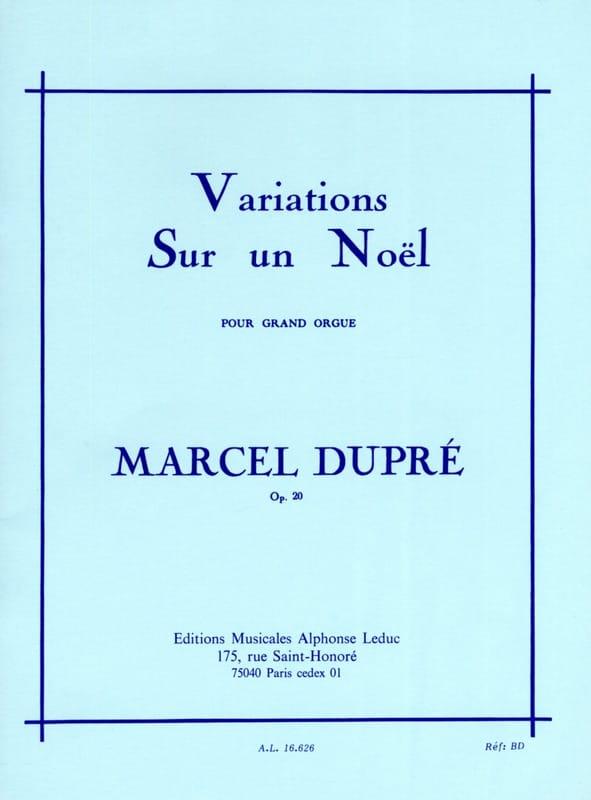 Variations sur un Noël Opus 20 - DUPRÉ - Partition - laflutedepan.com