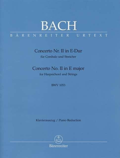 Concerto Pour Clavier En Mi Majeur BWV 1053 - BACH - laflutedepan.com