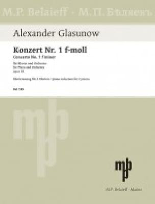 Concerto N°1 Op. 92 - GLAZOUNOV - Partition - Piano - laflutedepan.com