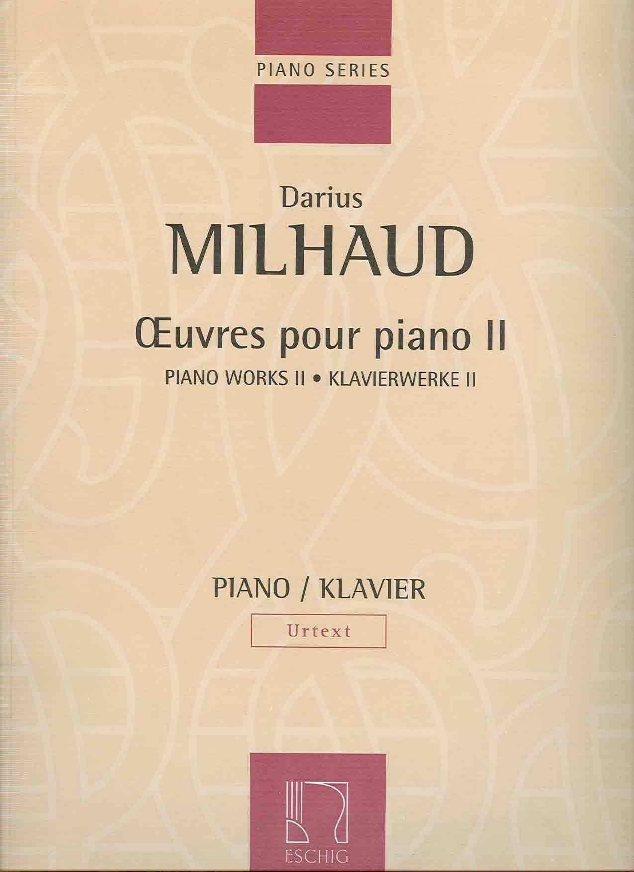 Oeuvres Pour Piano - Volume 2 - MILHAUD - Partition - laflutedepan.com