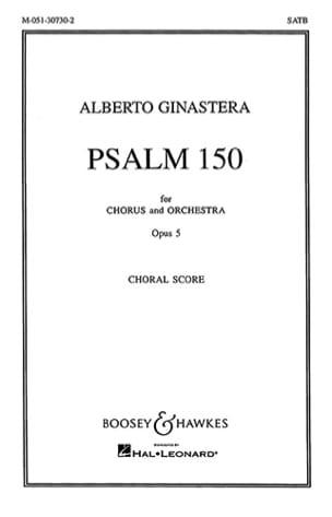 Psalm 150 Op. 5. Choeur Seul GINASTERA Partition Chœur - laflutedepan