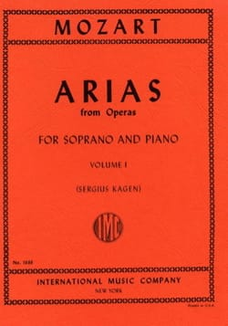 40 Arias from Operas Soprano Volume 1 MOZART Partition laflutedepan