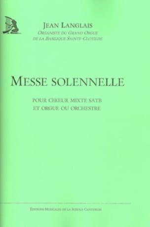 Messe Solennelle - Jean Langlais - Partition - laflutedepan.com
