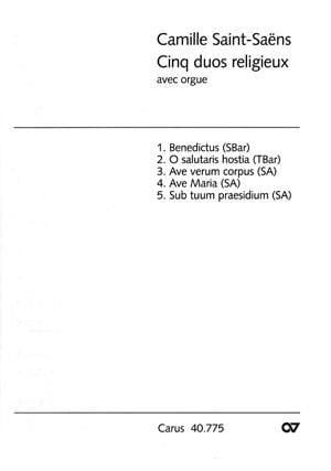 5 Duos Religieux Avec Orgue - SAINT-SAËNS - laflutedepan.com