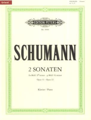 2 Sonates Opus 11 et 22 SCHUMANN Partition Piano - laflutedepan