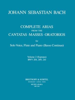 Complete arias from the cantatas, masses, oratorios Volume 2 laflutedepan