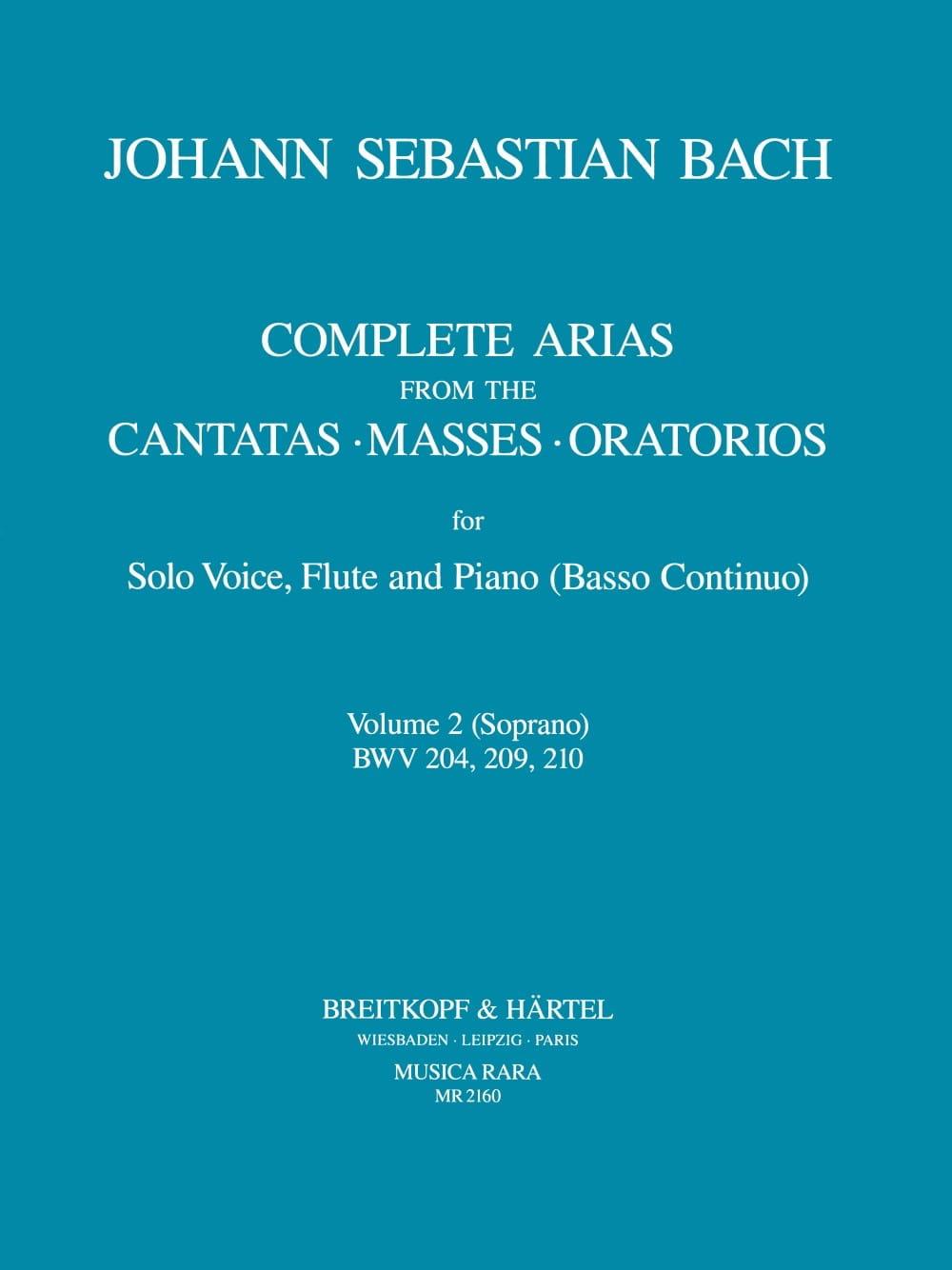 Complete arias from the cantatas, masses, oratorios Volume 2 - laflutedepan.com