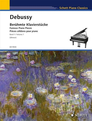 Pièces célèbres pour piano Volume 1 DEBUSSY Partition laflutedepan