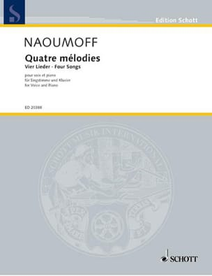 4 Mélodies. - Emile Naoumoff - Partition - Mélodies - laflutedepan.com