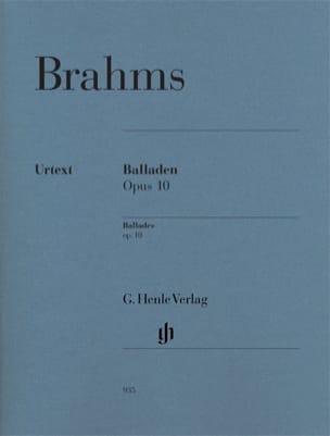 Ballades Opus 10 BRAHMS Partition Piano - laflutedepan