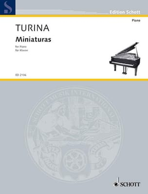 Miniaturas TURINA Partition Piano - laflutedepan