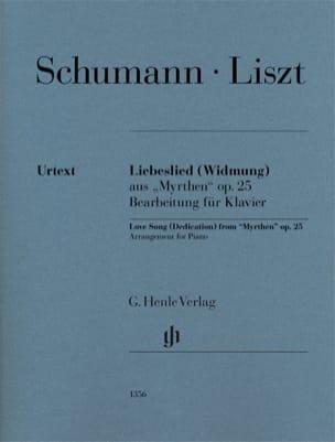 Liebeslied SCHUMANN / LISZT Partition Piano - laflutedepan