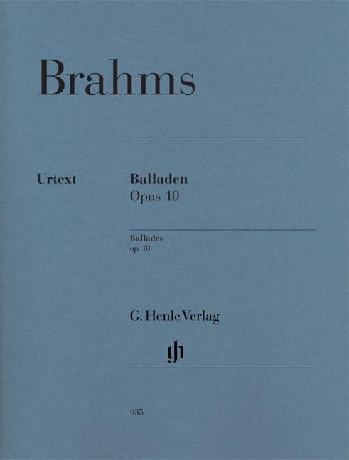 Ballades Opus 10 - BRAHMS - Partition - Piano - laflutedepan.com