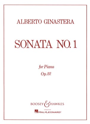 Sonate Pour Piano N° 1 Opus 22 GINASTERA Partition laflutedepan