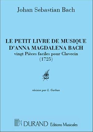 Petit livre d'Anna Magdalena Bach BACH Partition Piano - laflutedepan