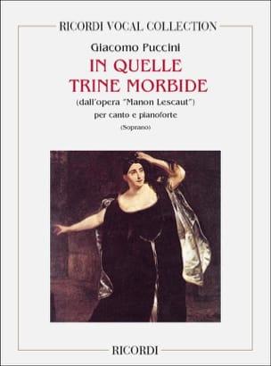 In Quelle Trine Morbide. Manon Lescaut PUCCINI Partition laflutedepan