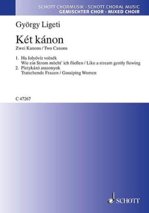 Ket Kanon 2 Canons LIGETI Partition Chœur - laflutedepan