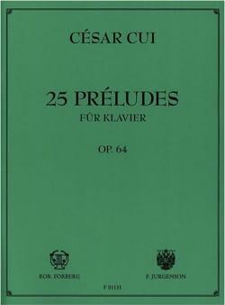 25 Préludes Opus 64 César Cui Partition Piano - laflutedepan