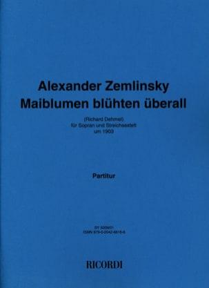 Maiblumen Blüten Uberall. Conducteur ZEMLINSKY Partition laflutedepan