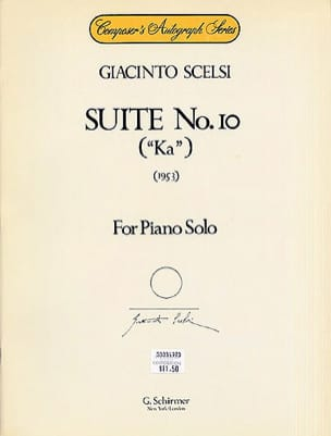 Sonata 2 - Giacinto Scelsi - Partition - Piano - laflutedepan.com