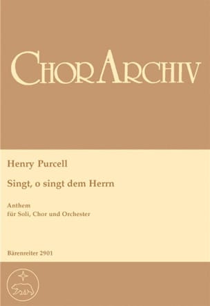 O, Sing Unto The Lord. Conducteur PURCELL Partition laflutedepan