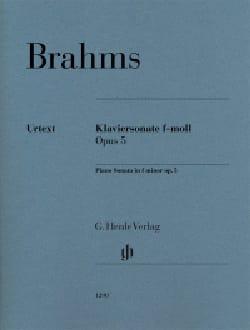 Sonate pour piano n° 3 Opus 5 BRAHMS Partition Piano - laflutedepan