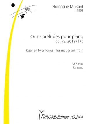 11 Préludes pour Piano Opus 78 Florentine Mulsant laflutedepan