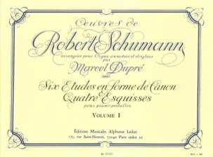 Oeuvres Complètes Volume 1 Schumann Robert / Dupré Marcel laflutedepan