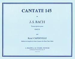 Cantate 145. Orgue - BACH - Partition - Orgue - laflutedepan.com