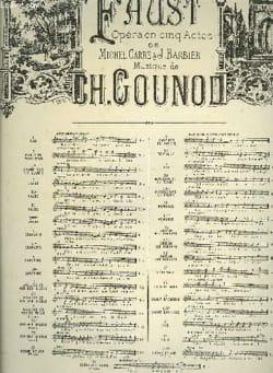 Air des Bijoux. Faust. Mezzo GOUNOD Partition Opéras - laflutedepan