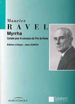 Myrrha RAVEL Partition Musique de chambre vocale - laflutedepan