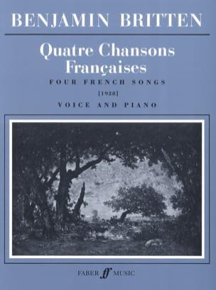 4 Chansons Françaises BRITTEN Partition Mélodies - laflutedepan
