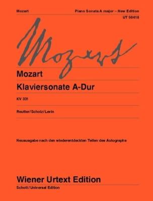 Sonate pour piano en la majeur K 331 MOZART Partition laflutedepan