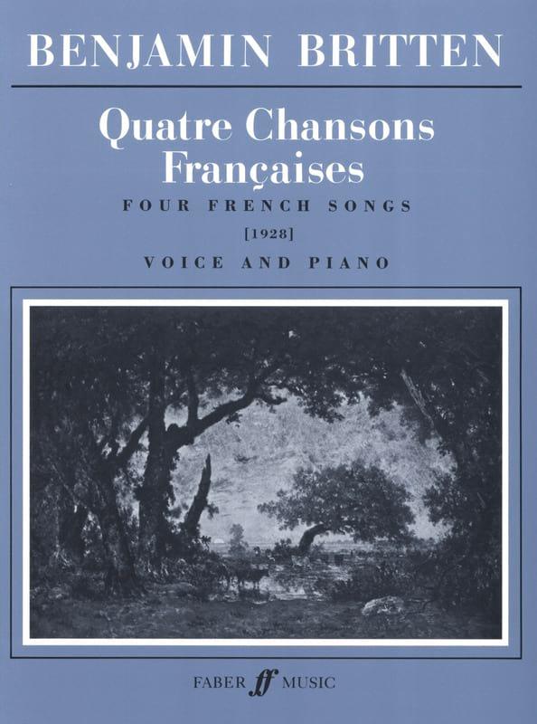 4 Chansons Françaises - BRITTEN - Partition - laflutedepan.com