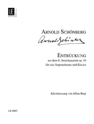 Entrückung Opus 10 SCHOENBERG Partition Mélodies - laflutedepan