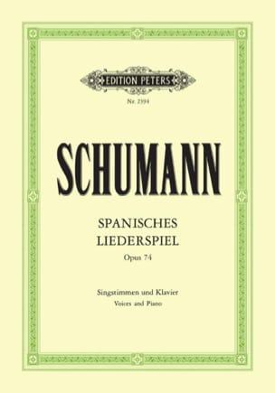 Spanisches Liederspiel Opus 74 SCHUMANN Partition Duos - laflutedepan