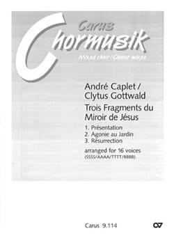 3 Fragments Du Miroir de Jésus André Caplet Partition laflutedepan