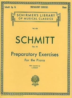 Preparatory Exercises Op. 16 Aloys Schmitt Partition laflutedepan
