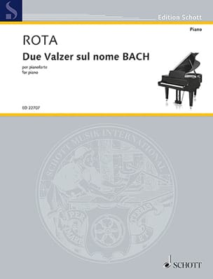 2 valses sur le nom de BACH ROTA Partition Piano - laflutedepan