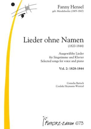 Lieder Volume 2 1820-1844 Fanny Hensel-Mendelssohn laflutedepan
